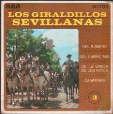 Discos de vinilo: LOS GIRALDILLOS - SEVILLANAS / EP RCA DE 1969 / BUEN ESTADO RF-4862. Lote 244967675