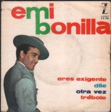 Discos de vinilo: EMI BONILLA - ERES EXIGENTE, DILE, OTRA VEZ, TREBOLE / EP ZAFIRO 1964 / BUEN ESTADO RF-4863. Lote 244967765