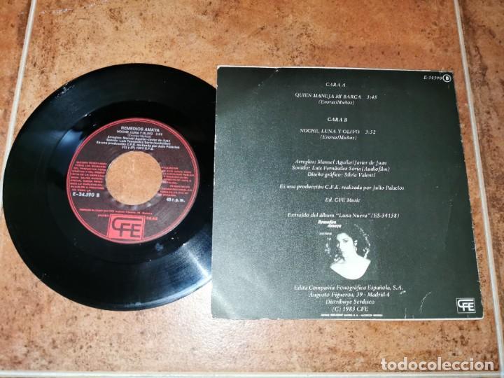 Discos de vinilo: REMEDIOS AMAYA Quien maneja mi barca/Noche luna y olvido EUROVISION 1983 SINGLE VINILO ESPAÑOL RARO - Foto 2 - 244968480