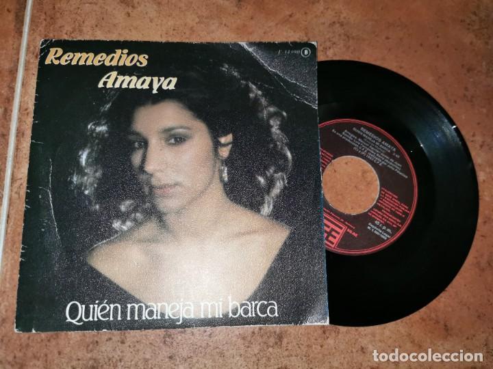 REMEDIOS AMAYA QUIEN MANEJA MI BARCA/NOCHE LUNA Y OLVIDO EUROVISION 1983 SINGLE VINILO ESPAÑOL RARO (Música - Discos - Singles Vinilo - Festival de Eurovisión)