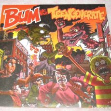 Discos de vinilo: BUM + TEENGENERATE - BUM VS TEENGENERATE - 2 SINGLES LANCE ROCK 1994 - EX+. Lote 244968910