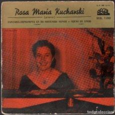 Discos de vinilo: ROSA MARIA KUCHANSKI - FANTASIA IMPROMPTU EN DO SOSTENIDO MENOR / EP REGAL RF-4876. Lote 244971030
