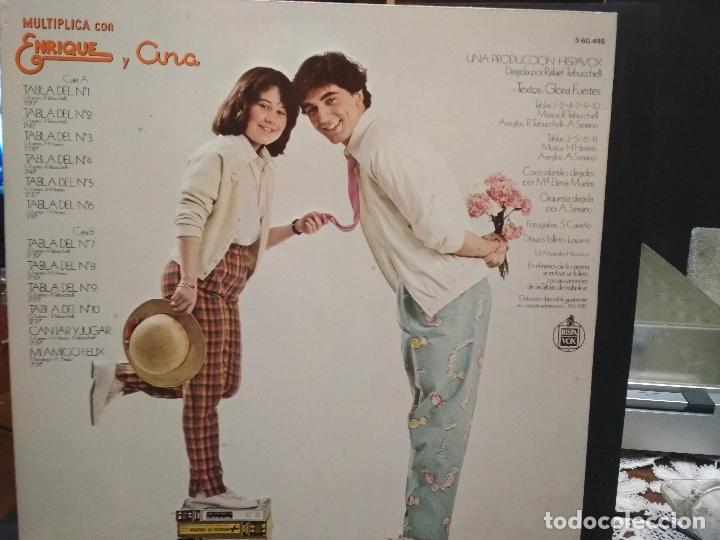 Discos de vinilo: LP ENRIQUE Y ANA: MULTIPLICA CON ENRIQUE Y ANA (1980) Contiene el éxito Mi amigo Félix PEPETO - Foto 2 - 244973585