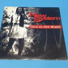 Discos de vinilo: DISCO DE VINILO - THIS IS THE NIGHT - NEW SYSTEM. Lote 244975655