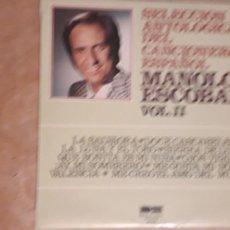 Discos de vinilo: 1 LP. DE ** SELECCION ANTOLOGICA MANOLO ESCOBAR ** VOL. II . AÑO 1976. Lote 244982385