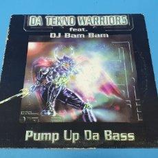 Discos de vinilo: DISCO DE VINILO - DA TEKNO WARRIORS - FEAT. DJ BAM BAM - PUMP UP DA BASS. Lote 244987195