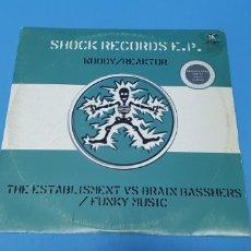 Discos de vinilo: DISCO DE VINILO - SHOCK RECORDS E.P. - WOODY / REAKTOR. Lote 244989215