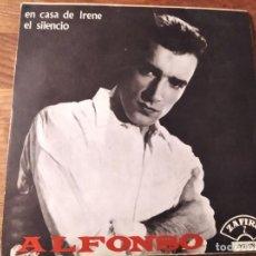 Discos de vinilo: ALFONSO - EN CASA DE IRENE **********RARO SINGLE ZAFIRO 1966 BUEN ESTADO!. Lote 244989395