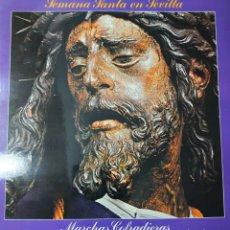 Discos de vinilo: MARCHAS COFRADIERAS LP PORTADA DOBLE SELLO ÁMBAR AÑO 1980...BANDA MUNICIPAL DE SEVILLA... Lote 244992745