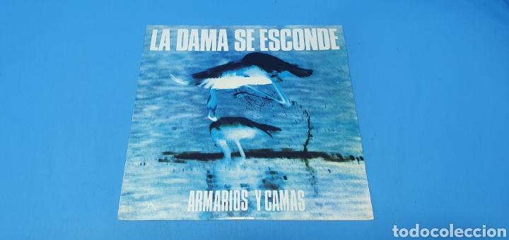 DISCO DE VINILO - ARMARIOS Y CAMAS - LA DAMA SE ESCONDE - 1986 (Música - Discos de Vinilo - Maxi Singles - Grupos Españoles de los 70 y 80)