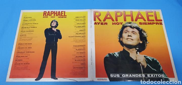 Discos de vinilo: DISCO DE VINILO - RAPHAEL - AYER HOY SIEMPRE SUS GRANDES ÉXITOS - Foto 10 - 244998080