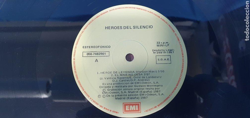 Discos de vinilo: DISCO DE VINILO - HEROES DEL SILENCIO - HEROE DE LEYENDA - 1987 - Foto 3 - 245009485
