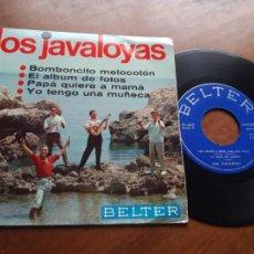 Discos de vinilo: LOS JAVALOYAS- BOMBONCITO +3 - EP BELTER 1966. Lote 245014770