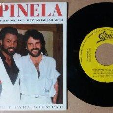Dischi in vinile: PIMPINELA / PHILIP-MICHAEL THOMAS / POR SIEMPRE Y PARA SIEMPRE / SINGLE 7 PULGADAS. Lote 245026175