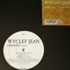 Discos de vinilo: WYCLEF JEAN - PRESIDENT / HAITIAN MAFIA - 2004. Lote 245030200