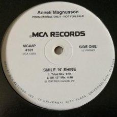 Discos de vinilo: ANNELI MAGNUSSON - SMILE 'N' SHINE - 1997. Lote 245030515