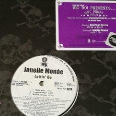 Discos de vinilo: SCAR FEAT. CEE-LO / JANELLE MONÁE - WHAT IS THIS / LETTIN' GO - 2006. Lote 245031625