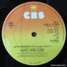 Discos de vinilo: EARTH, WIND & FIRE - LET'S GROOVE / LET'S GROOVE INSTRUMENTAL - 1981 - EDICIÓN INGLESA. Lote 245048060