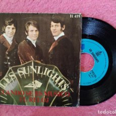 Discos de vinilo: SINGLE LES SUNLIGHTS - CUANDO SE ES MÚSICO / EL RELOJ - H 419 - SPAIN PRESS (VG++/EX-). Lote 245052450