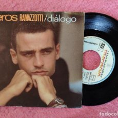Discos de vinilo: SINGLE EROS RAMAZZOTTI - DIÁLOGO / CHAO, PAPA - HISPAVOX 2023367 - SPAIN PRESS (EX+/EX-). Lote 245053790