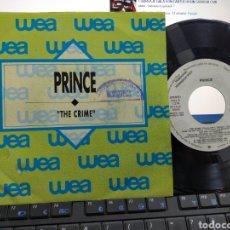 Discos de vinilo: PRINCE SINGLE PROMOCIONAL THE CRIME ESPAÑA 1989. Lote 245057110