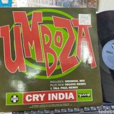 Discos de vinilo: UMBOZA MAXI CRY INDIA 1995 U.K.. Lote 245070260
