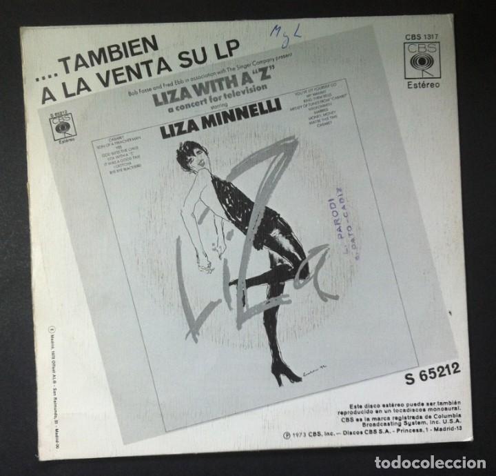 Discos de vinilo: LIZA MINNELLI - El Cantante / El Sr. Emery no estará en casa - SINGLE 1973 - CBS - Foto 2 - 245078300