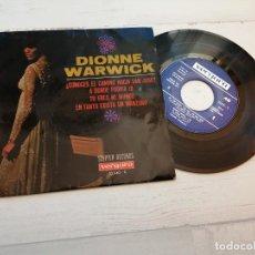 Discos de vinilo: DIONNE WARWICK – ¿CONOCES EL CAMINO HACIA SAN JOSÉ? + 3 EP SPAIN 1968 VINILO VG++/PORTADA VG. Lote 245078445