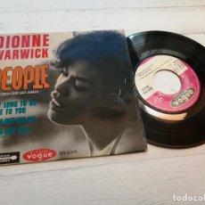 Discos de vinilo: DIONNE WARWICK – PEOPLE (CELUI QUI SAIT AIMER) + 3 EP FRANCIA 1964 VINILO Y PORTADA VG++. Lote 245079195