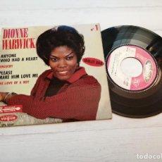 Discos de vinilo: DIONNE WARWICK – ANYONE WHO HAD A HEART + 3 EP FRANCIA 1963 VINILO EX/PORTADA NM. Lote 245082465
