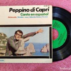 Discos de vinilo: EP PEPPINO DI CAPRI - MELANCOLIA / TE AMO +2 - HISPAVOX HI 307-10 - SPAIN PRESS (VG++/VG++). Lote 245085460