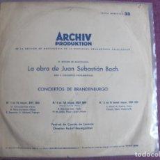 Dischi in vinile: LP - BACH - CONCIERTOS DE BRANDEMBURGO Nº 1 A 6 (SPAIN, DOBLE DISCO, ARCHIV PRODUKTION 1965. Lote 245088170