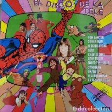 Discos de vinilo: EL DISCO DE LA TELE - LP SERIES INFANTILES TVE - SPIDERMAN HEIDI SANDOKAN ORZOWEI GABI FOFO Y MILIKI. Lote 245093155