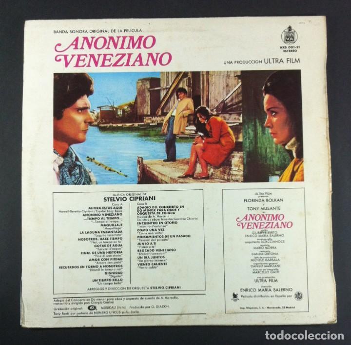 Discos de vinilo: STELVIO CIPRIANI - Anonimo Veneziano (Banda Sonora Original) - LP 1971 - HISPAVOX - Foto 2 - 245095635