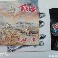 Discos de vinilo: TURBO - DEAD END - LP ORIGINAL UNDER ONE FLAG FRANCIA 1990 // TRASH METAL. Lote 245095875