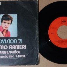 Disques de vinyle: MASSIMO RANIERI / PERDON CARIÑO MIO / SINGLE 7 PULGADAS. Lote 245107510