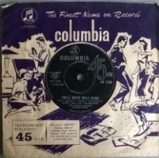 Discos de vinilo: GERRY & THE PACEMAKERS. IT'S ALL RIGHT/ YOU'LL NEVER WALK ALONE. COLUMBIA, UK 1963 SINGLE. Lote 245125500