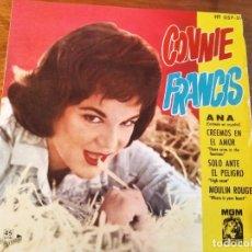 Discos de vinilo: CONNIE FRANCIS - ANA + 3 ********* RARO EP ESPAÑOL 1961 UN TEMA EN CASTELLANO. Lote 245126775