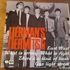 Discos de vinilo: HERMAN'S HERMITS - EAST WEST + 3 ********* RARO EP ESPAÑOL 1967. Lote 245127045