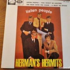 Discos de vinilo: HERMAN'S HERMITS - LISTEN PEOPLE + 3 ********* RARO EP ESPAÑOL 1966. Lote 245127250