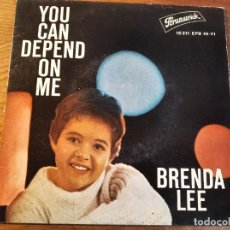 Discos de vinilo: BRENDA LEE - YOU CAN DEPEND ON ME + 3 ********* RARO EP ESPAÑOL 1961. Lote 245127740