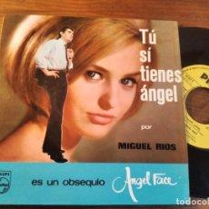 Discos de vinilo: MIGUEL RÍOS - TÚ SÍ TIENES ÁNGEL ********* RARO SINGLE PUBLICITARIO POND'S 1965. Lote 245128415
