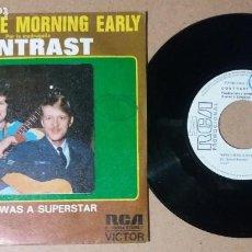 Discos de vinilo: CONTRAST / WISH I WAS A SUPERSTAR / SINGLE 7 PULGADAS. Lote 245136660