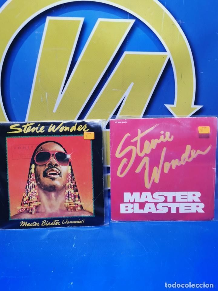 LOTE 2 EPS 7´´ VINILOS SINGLES STEVIE WONDER MASTER BLASTER-BUEN ESTADO (Música - Discos de Vinilo - EPs - Otros estilos)