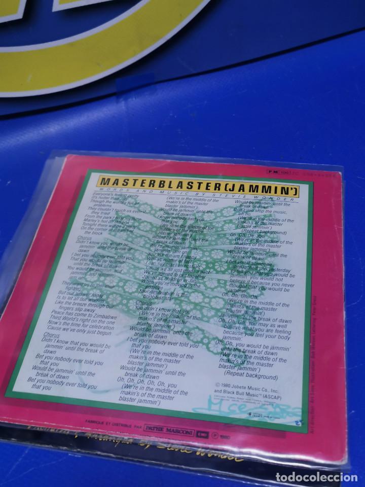 Discos de vinilo: Lote 2 eps 7´´ Vinilos singles STEVIE WONDER master blaster-buen estado - Foto 5 - 245138585