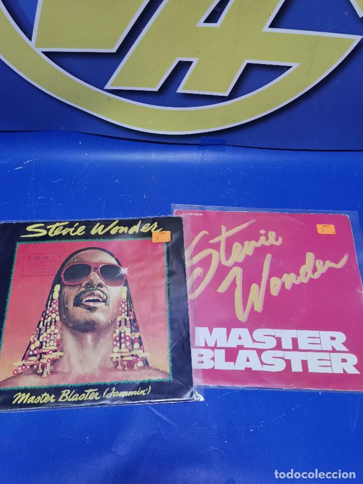 Discos de vinilo: Lote 2 eps 7´´ Vinilos singles STEVIE WONDER master blaster-buen estado - Foto 6 - 245138585