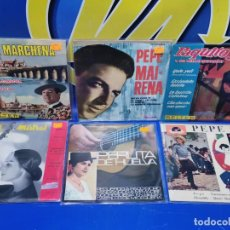 Discos de vinilo: LOTE 6 EPS 7´´ VINILOS SINGLES PERLITA DE HUELVA-PEPE MARCHENA-PAQUITO JEREZ Y MAS. Lote 245138635
