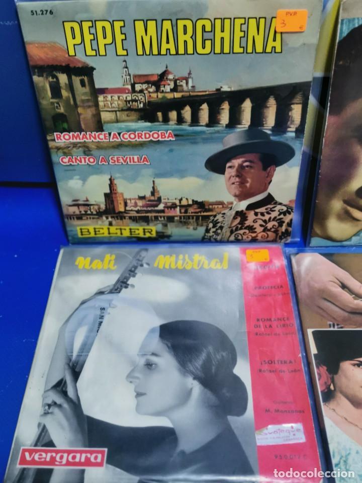 Discos de vinilo: Lote 6 eps 7´´ Vinilos singles PERLITA DE HUELVA-PEPE MARCHENA-PAQUITO JEREZ Y MAS - Foto 2 - 245138635