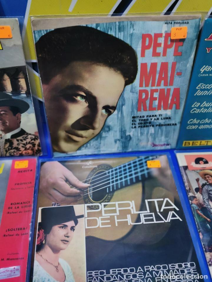 Discos de vinilo: Lote 6 eps 7´´ Vinilos singles PERLITA DE HUELVA-PEPE MARCHENA-PAQUITO JEREZ Y MAS - Foto 3 - 245138635