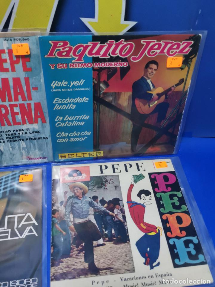 Discos de vinilo: Lote 6 eps 7´´ Vinilos singles PERLITA DE HUELVA-PEPE MARCHENA-PAQUITO JEREZ Y MAS - Foto 4 - 245138635